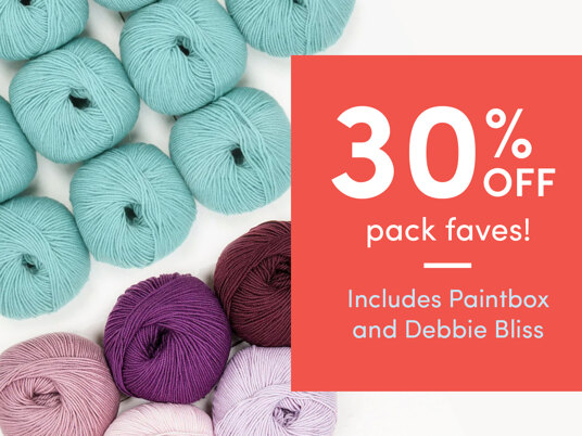 30 percent off pack faves! Includes Paintbox and Debbie Bliss.
