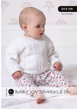 Jumper in DY Choice Baby Joy Sparkle - DYP290 - Leaflet