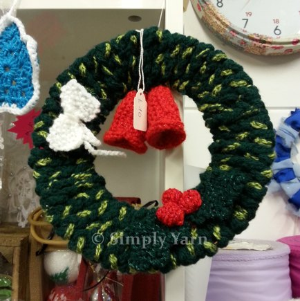 Crochet And Knitted Christmas Wreath Knitting And Crochet Project By