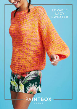 Loveable Lacy Sweater in Paintbox Yarns Metallic DK - Downloadable PDF