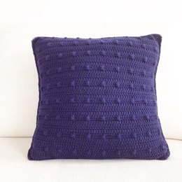Crochet Bobble Stitch Pillow