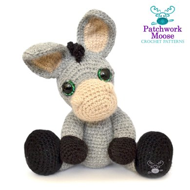 Pablo, the Rock-Donkey. Crochet Instructions English | 390x390
