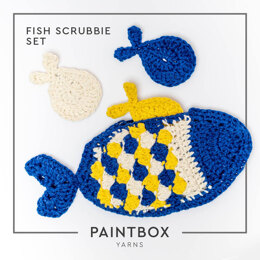 Fish Scrubbies Set in Paintbox Yarns Recycled Cotton Worsted - Downloadable PDF