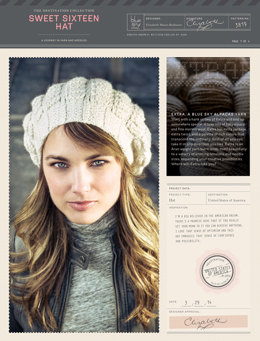 Sweet Sixteen Hat in Blue Sky Fibers Extra - 3819 (Downloadable PDF)