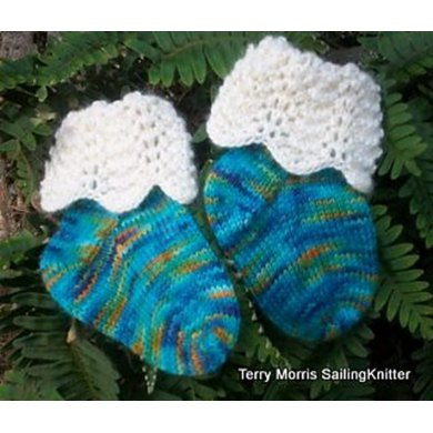 Lace Cuff Baby Socks Knitting Pattern By Terry Morris Knitting