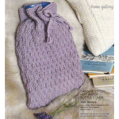 Textured Hot Water Bottle Cover
