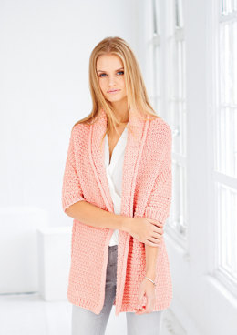 Cardigan and Snood in Rico Fashion Jersey - 440 - Leaflet