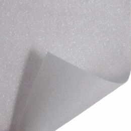 Trimits Glitter Felt Roll - 1m x45cm - White