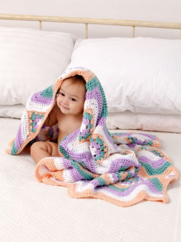 Baby Granny Stripes Blanket in Caron Simply Soft - Downloadable PDF