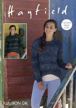 Sweaters in Hayfield Illusion DK - 7859- Downloadable PDF