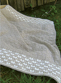 Gingham Baby Blanket in Knit One Crochet Too Dungarease - 1878 - Downloadable PDF