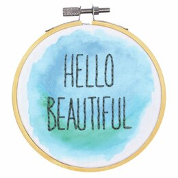 Dimensions Hello Beautiful Crewel Embroidery Kit with Hoop