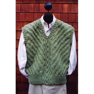 Mari Sweaters MS 169 Cable Pullover Vest