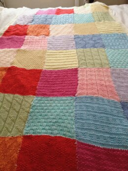 Patchwork Blanket, Knitting Pattern