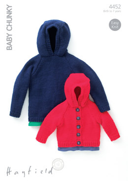 Jacket and Sweater in Hayfield Baby Chunky - 4452 - Downloadable PDF