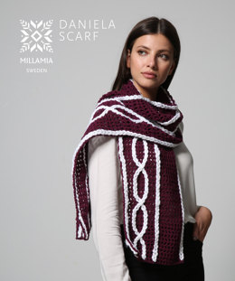 Daniela Scarf in MillaMia Naturally Soft Aran and Naturally Soft Super Chunky - Downloadable PDF