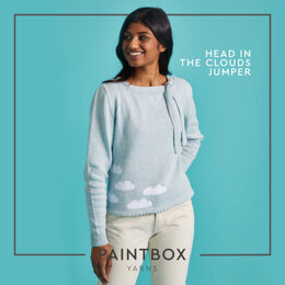 Head In The Clouds Jumper - Free Jumper Knitting Pattern For Women in Paintbox Yarns Cotton 4 Ply by Paintbox Yarns