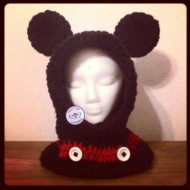 Mickey Mouse Inspired Hooded Cowl