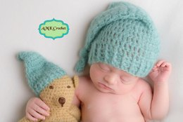 Newborn Sleepy Hat and Bear Photo Prop