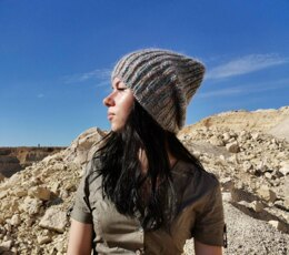 Fluffy Mix Knitted Women's Teen's Girl's Slochy Beanie Mohair Winter Gray Multicolours Hat