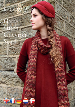 Garter Stitch Chevron Scarf in Rowan Fine Art