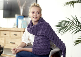 Garter Scarf in Bernat Alize Blanket-EZ - Downloadable PDF