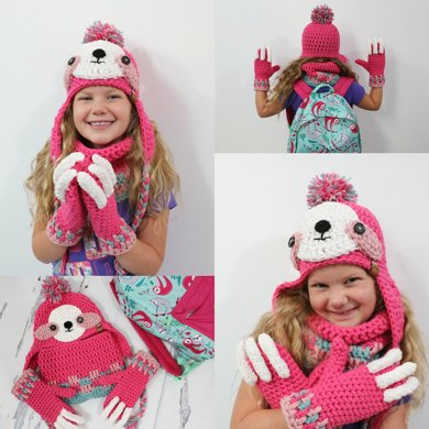 Sloth Hat & Mitten Set
