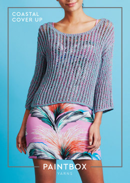 Coastal Cover Up - Free Knitting Pattern For Women in Paintbox Yarns Metallic DK