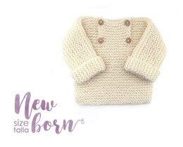 Size New Born - Natural Baby Sweater