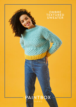 """Ombre Textured Jumper"" - Jumper Knitting Pattern For Women in Paintbox Yarns Simply Super Chunky"