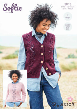 Women Jumpers in Stylecraft Softie - 9813 - Downloadable PDF