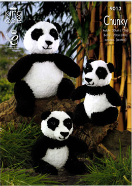 Panda Toys in King Cole Cuddles Chunky - 9013