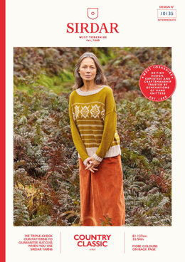 Ladies Fair Isle Sweater in Sirdar Country Classic 4 Ply - 10135 - Leaflet