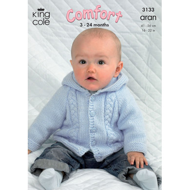 Jackets in King Cole Comfort Aran - 3133