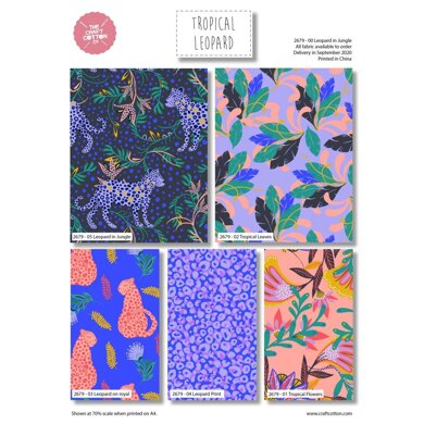 Visage Textiles Tropical Leopard Fat Quarter Bundle