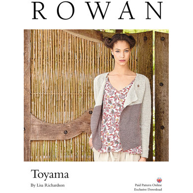 Toyama Cardigan in Rowan Pure Linen - Downloadable PDF