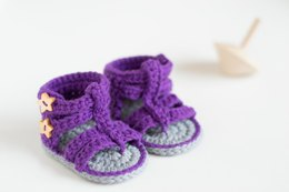 Purple Gladiator Baby Booties