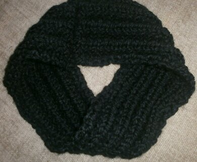 German Rib Infinity Scarf Knitting pattern by Canny Mitts