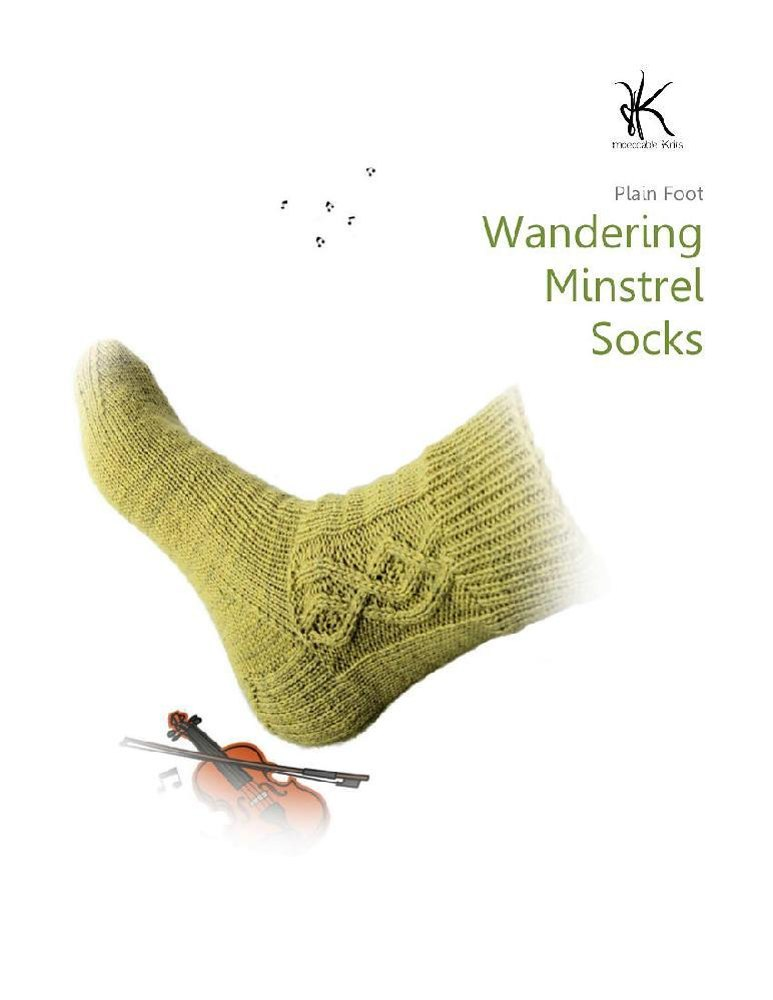 Knitting Pattern For Plain Socks : Plain foot: wandering minstrel cable socks Knitting ...