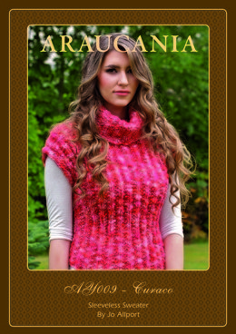 Sleeveless Sweater in Araucania Curaco - AY009