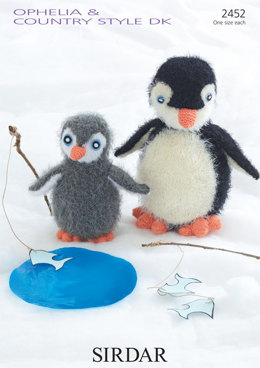 Penguins Toy in Sirdar Ophelia and Country Style DK - 2452 - Downloadable PDF