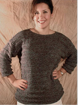 Garter Stripes Pullover in Knit One Crochet Too 2nd Time Cotton - 1118