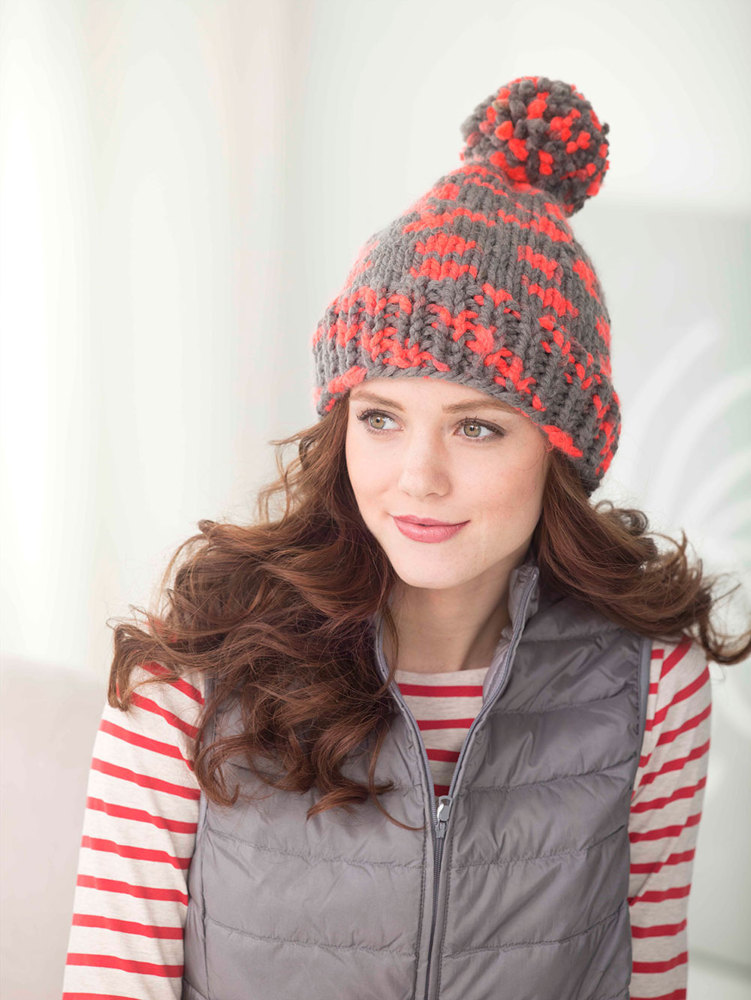 Electric Color Hat In Lion Brand Wool Ease Thick Amp Quick
