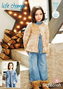 Cardigans in Stylecraft Life Changes - 9545 - Downloadable PDF