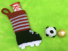 Football and Boot Gift Bag and Choc Cover
