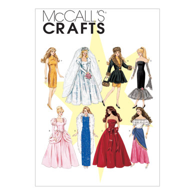 McCall's Fashion Doll Clothes M6232 - Paper Pattern Size One Size Only