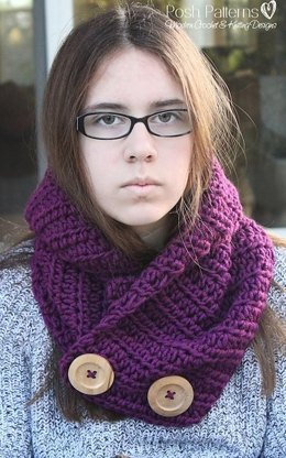 Cozy Collared Cowl Crochet Pattern 394