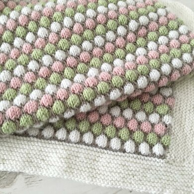 Bubble Stitch Baby Blanket