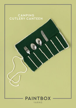 Camping Cutlery Canteen in Paintbox Yarns Cotton DK - Downloadable PDF