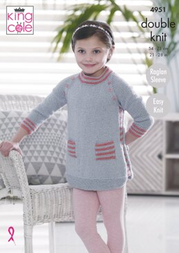 Tunic & Cardigan in King Cole DK - 4951 - Downloadable PDF